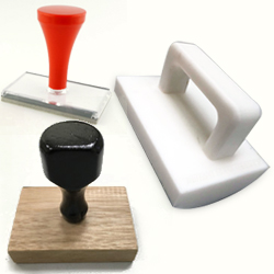 Large rubber stamps
